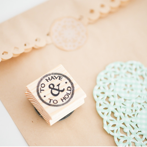 Picture of Rubber Stamp To have and to hold