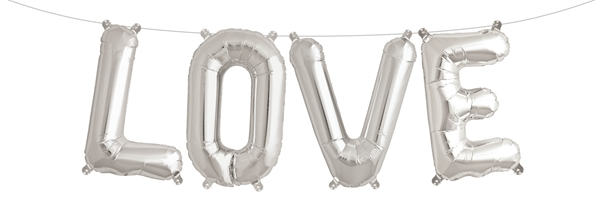 Picture of Foil Balloons Kit LOVE silver