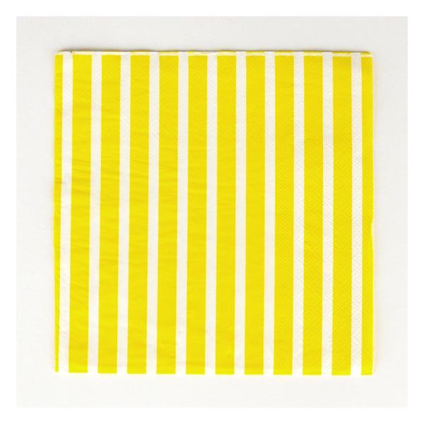 Χαρτοπετσέτες - Κίτρινο ριγέ