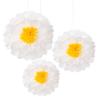 Pom Pom - Λουλούδια λευκά (σετ 3)