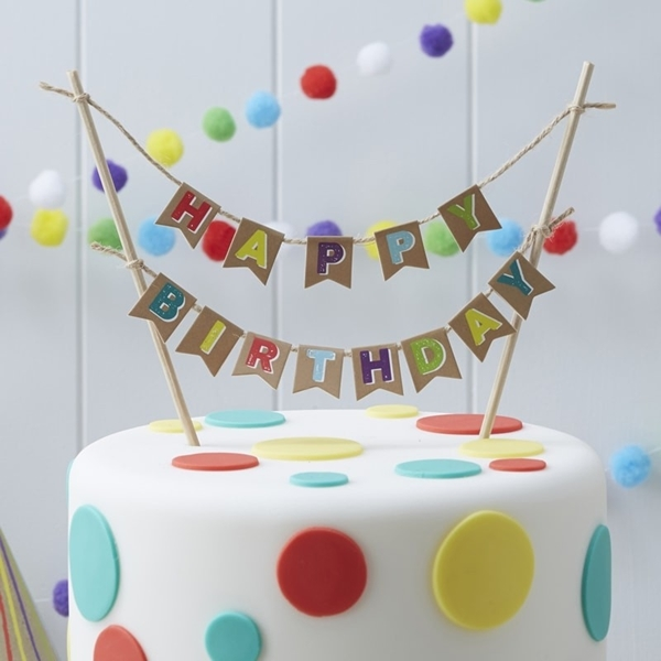 Picture Of Birthday Cake Bunting Happy