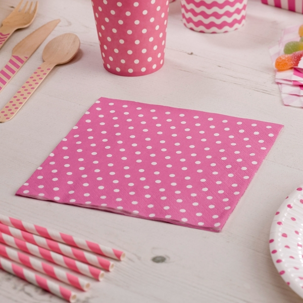 Picture of Napkins - Dots Pink