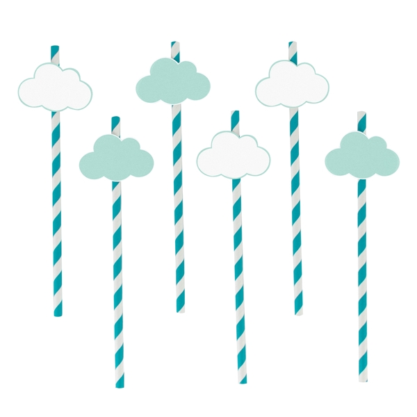 Picture of Paper Straws-Clouds (12pc.)