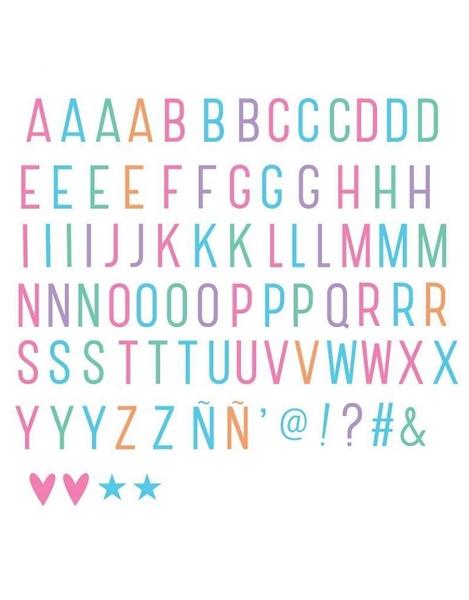 Σετ γράμματα pastel για lightbox