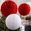 Picture of Honeycomb Ball Decoration - Red & White