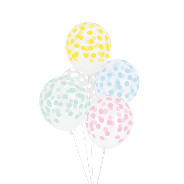 Picture of Balloons-confetti pastel