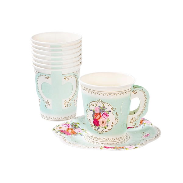 Picture of Teacup & Saucer Set Tea time (12qty)