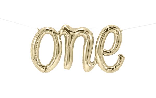 Μπαλόνια σετ ONE white gold