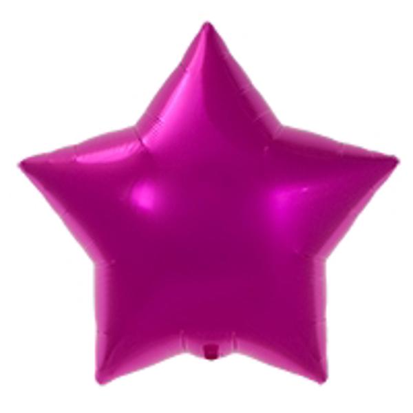 Μπαλόνι foil αστέρι - Φουξ (56εκ)