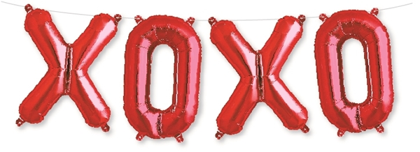 Picture of Foil Balloons Kit XOXO red