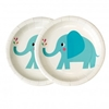 Picture of Paper plates (17,5cm.)-Little Elephant