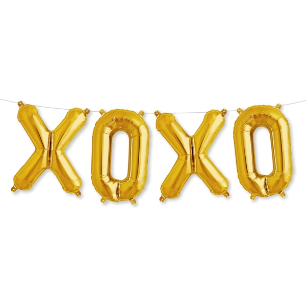 Μπαλόνια σετ ΧΟΧΟ χρυσό