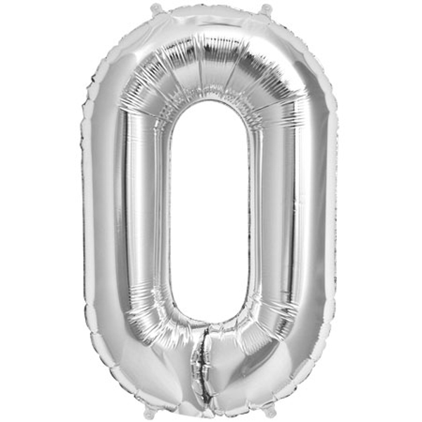 Picture of Foil balloon Deco Link silver 87cm