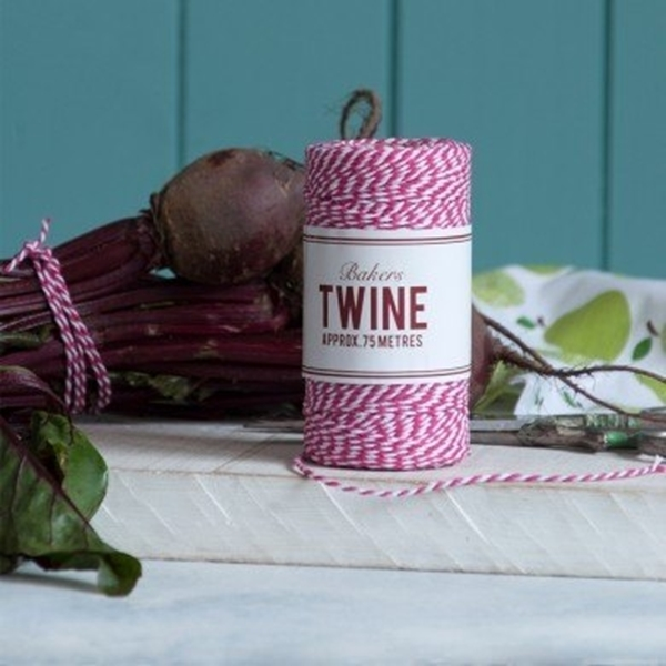 Picture of Bakers Twine- Cerise and White