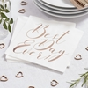 Picture of Paper napkins -  Best Day Ever (rose gold)