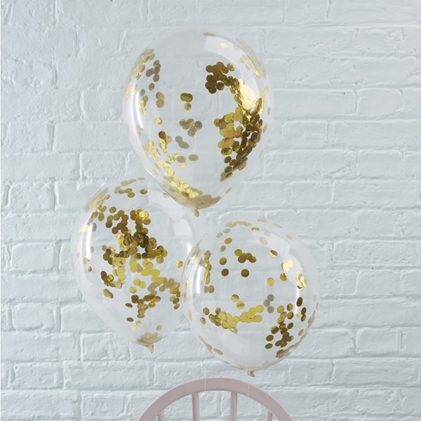 Picture of Gold Confetti Filled Balloons