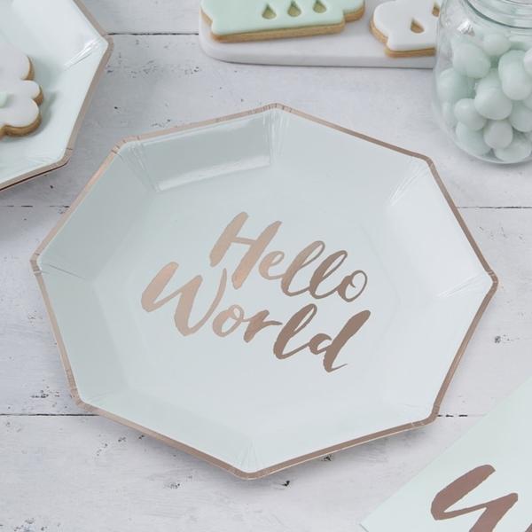 Χάρτινα πιάτα φαγητού-Hello World