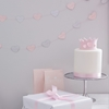 Picture of Princess-Pink & Silver Glitter Heart Garland