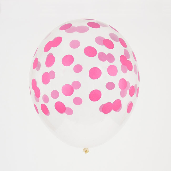 Picture of Balloons-confetti bright pink (5pc)