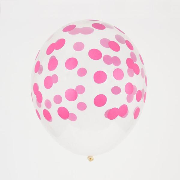 Σετ μπαλόνια πουά φουξ (5τμχ)