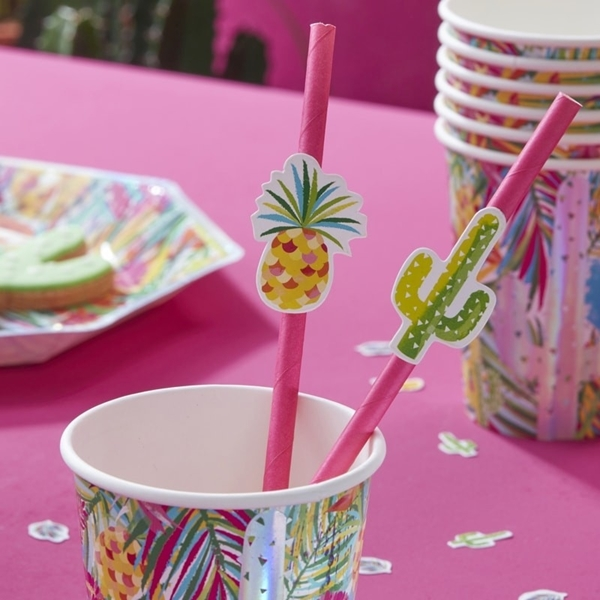 Picture of Paper Straws-Tropical (16pc.)