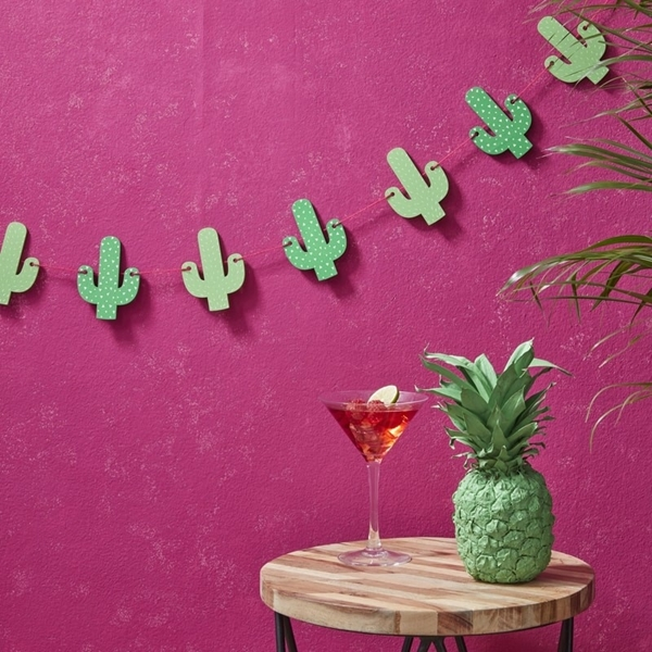 Picture of Wooden Cactus Bunting