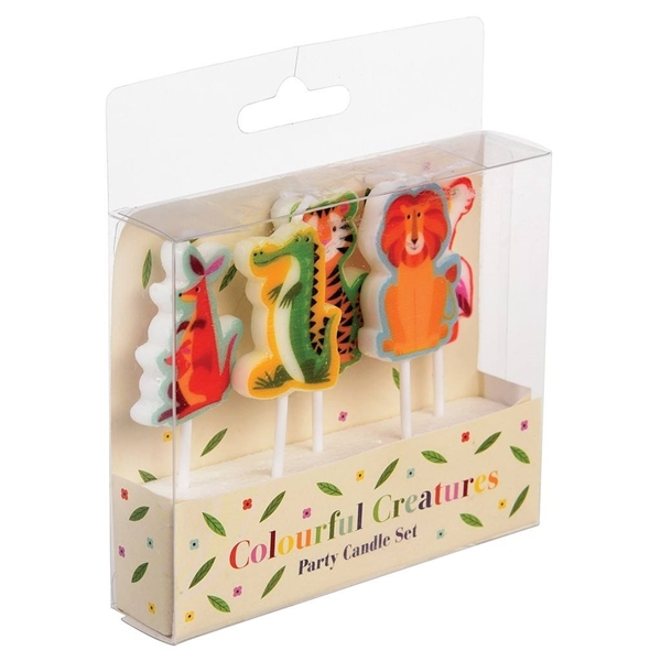 Picture of Cake candles-Colourful Creatures