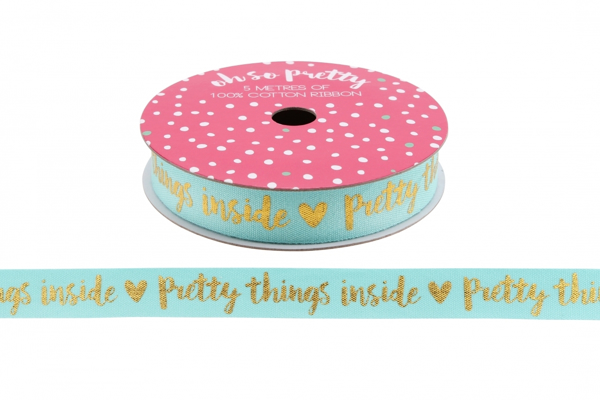 """Picture of """"Pretty things inside""""  5m ribbon"""