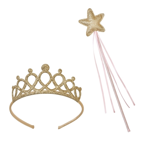 Picture of  Gold Wand & Tiara Set