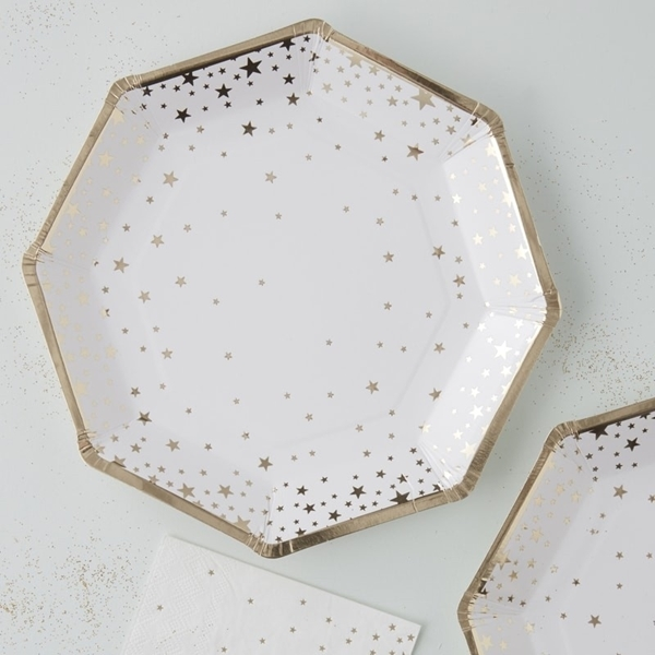Picture of Gold Foiled Star Paper Plates