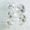 Μπαλόνια με κομφετί ασημί αστέρια