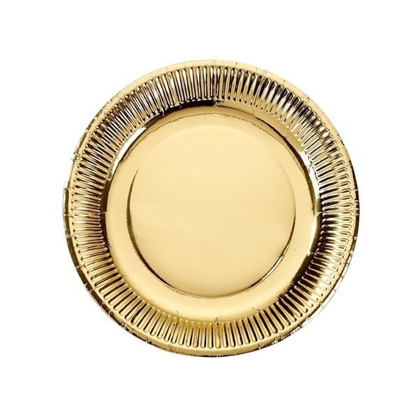 Χάρτινα πιάτα φαγητού χρυσά