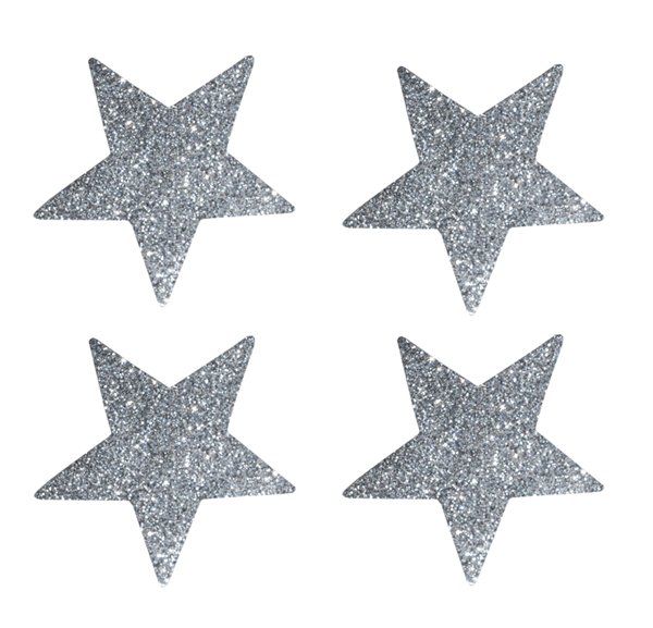 Picture of Star stickers silver glitter