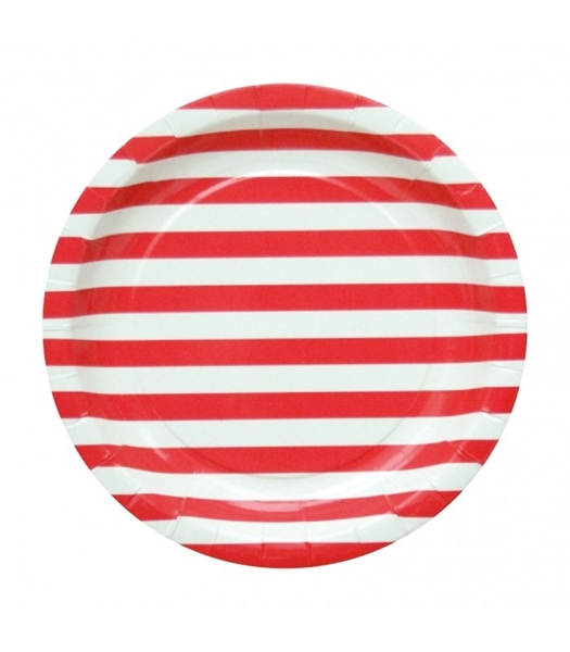 Picture of Plates red stripes (20cm.)