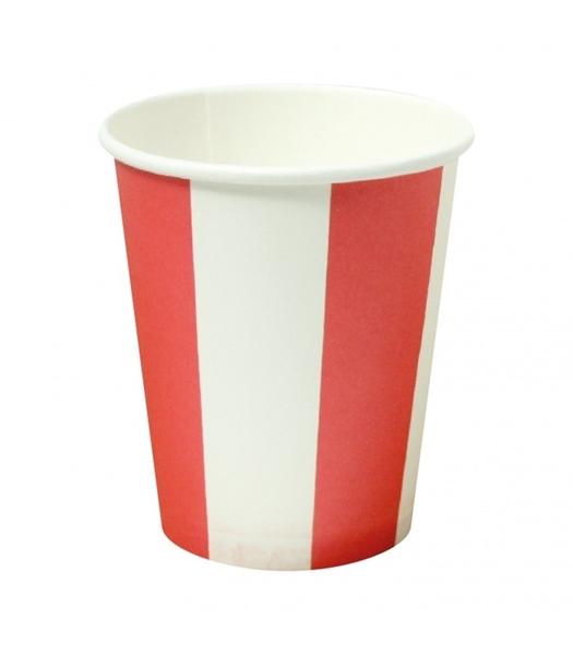 Χάρτινα ποτήρια ριγέ κόκκινο