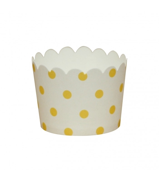 Picture of Yellow dots baking cups