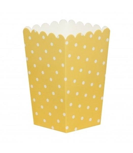 Picture of Pop corn boxes yellow dots