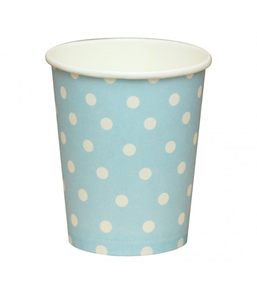 Picture of Paper cups blue polka dots
