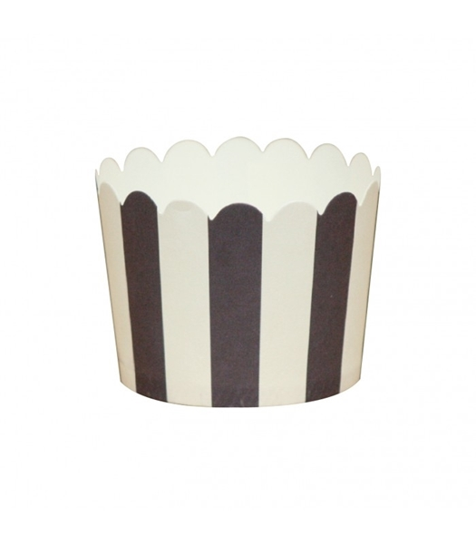 Picture of Baking cups black stripes