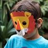 3D χάρτινες μάσκες για πάρτι- Ζωάκια (σετ 4)