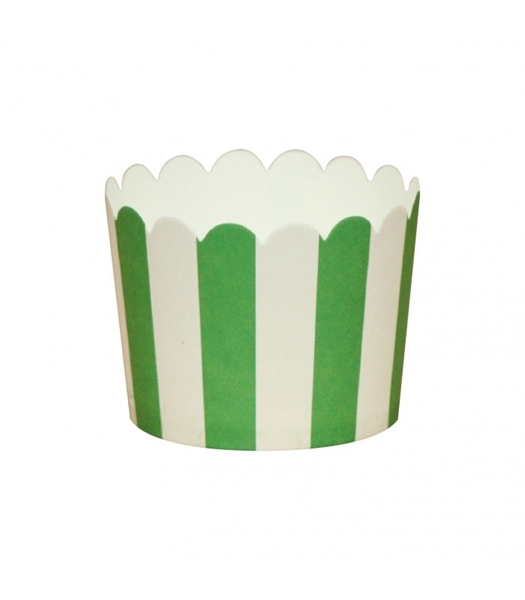 Picture of Baking cups green stripes