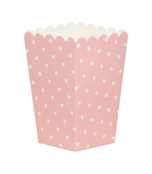 Picture of Pop corn boxes pink dots