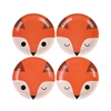 Picture of Paper Plates (18cm.)-Little Fox