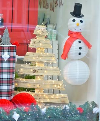DIY-Πως θα φτιάξεις ένα χιονάνθρωπο απο χάρτινα φανάρια