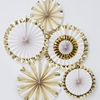 Picture of Gold foiled fan decorations (set 5)