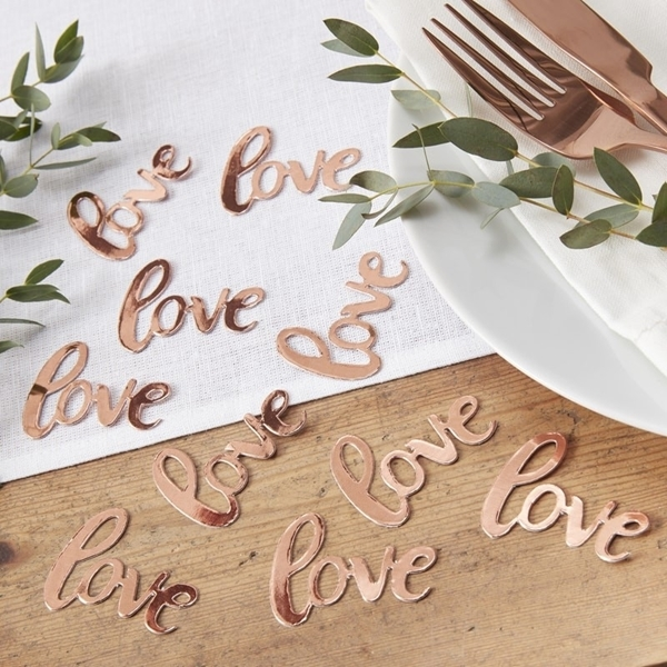 Picture of Rose Gold Foiled Love Comfetti