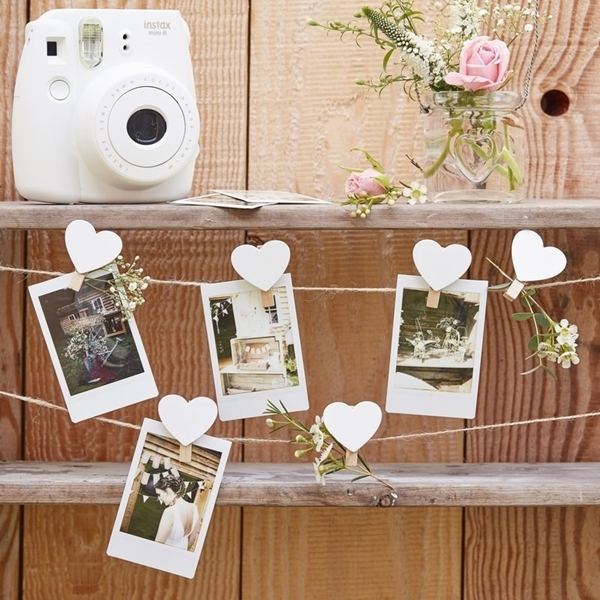 Picture of Wooden Heart Peg and String Set