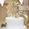 Picture of Wooden Love Cake Topper