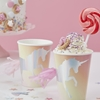 Picture of Iredescent Foiled Unicorn Paper Cups