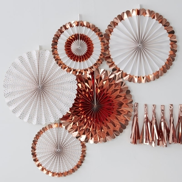 Picture of Rose Gold Fan Decoration (set 5)